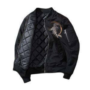 DHgate men's vests phoenix embroidery spring jacket men warm ma-1 bomber coat cotton padded long sleeve hip hop baseball clothing winter qjlz
