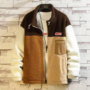 DHgate 2021 casual england style new spring autumn fleece patchwork jacket men's brand clothes oversize m-5xl yk02 hp4c