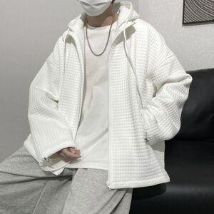 DHgate 2021 spring plaid hoodies men's fashion casual hooded sweatshirt men streetwear hip hop zipper hoodie mens m-xl 7c93