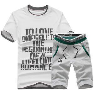 DHgate 2021 brand new men t shirt sets summer cotton comfortable short sleeve tshirt homme casual set male size 4xl 5p6b