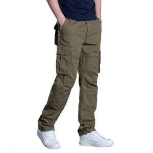 DHgate 2021 autumn new men's overalls trend sports cotton multi-pocket tooling large size trousers multi-color optional m-3xl c4gv