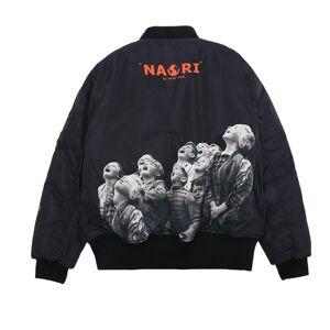 DHgate 2021 new autumn winter hip-hop streetwear nagri black white children printed women men padded jacket oversize zipper ma1 pocket outerwear b5