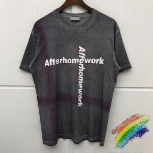 DHgate 2021 new 20ss afterhomework camiseta 1:1 melhor qualidade oversized t camisa das mulheres dos homens lavado vintage aps o trabalho em casa g