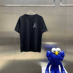 DHgate fashion outlet 21ss chrome fengchao pa hand painted graffiti letters bear print round neck short sleeve t-shirt top