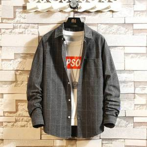 DHgate 2021 red and black plaid shirt men shirts long sleeves new spring autumn plus asian size m-5xl lx4c