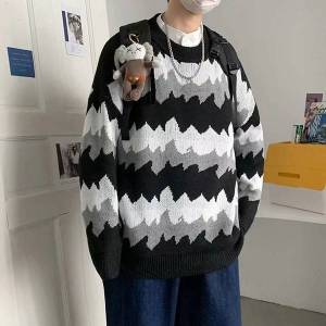DHgate 2021 new winter sweater men's warmth fashion retro casual knitted pullover men wild loose korean knitting sweaters mens clothes m-2xl c