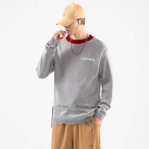 DHgate 2021 new fashion o-neck black sweater men's oversize pull hip hop streetwear m-5xl long sleeves pullover for autumn spring winter yb3c