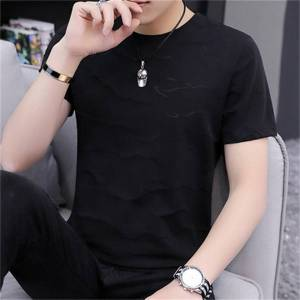 DHgate 2021 new summer solid color t-shirt cotton thick and loose round neck short sleeve wild tide sswp