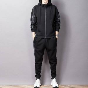 DHgate 2021 8xl-m spring autumn new men sports hooded plus size sweater casual suit clothing bluza sweetshirt spodnie pk2c