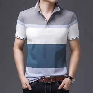 DHgate 2021 summer new stripe short sleeve t-shirt cotton fashion lapel men's poio shirt