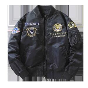 DHgate jackets 2021 pilot et men's autumn and winter coat thin military baseball ma1 air force flight suit plush