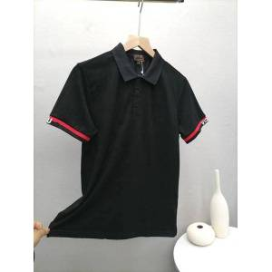 DHgate spot high version polo shirt ev fushen men's big m stick cloth embroidery printing short sleeve color black and white red, size m-xxl f
