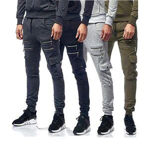 DHgate 4 colors mens pants sports zipper pocket design tight fit trousers hip-hop style casual fashion