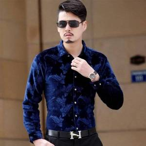 DHgate men's casual shirts thickening british style long-sleeve male slim winter full sleeve clothes dress shirt ma0o