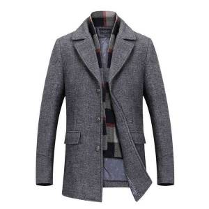 DHgate men's suits & blazers new wool coat men overcoats oat mens single breasted s jackets male winter casual trench ma