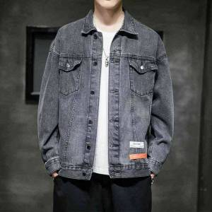 DHgate 2021 men's new denim korean fashion autumn loose and handsome casual jacket