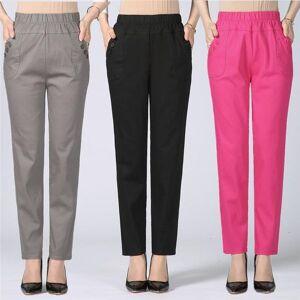 DHgate size plus 5xl high waist stretch long pants women cotton straight trousers women pantalon femme work office ladies pants c4315