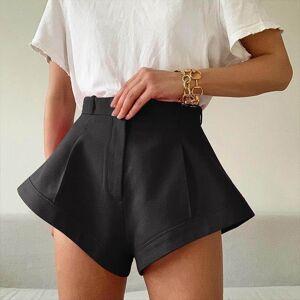 DHgate 2020 new wide leg women high waist summer shorts wild loose solid color cotton casual women belt