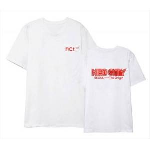 DHgate kpop nct 127 seoul concert same printing o neck short sleeve t shirt summer style 4 colors k pop loose t