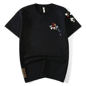 DHgate 2021 new designer big 5xl size short sleeve t-shirt men brand summer black t shirt mens fashion casual tshirt male  chemise n63c