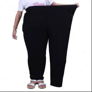 DHgate plus size 5xl 6xl 7xl autumn trousers women new winter thicken warm extra large size elasticated waist pants female n364