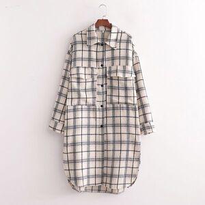 DHgate 2021 japanese style spring and autumn shirt south korea new fashion leisure simple pocket split plaid long set z2vw