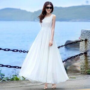 DHgate 2021 new summer of white chiffon fairy temperament swing great dress female vacation dressed wild 2zuu