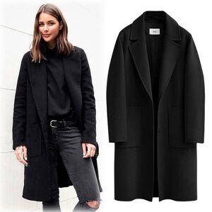 DHgate autumn winter coat women 2020 casual thick plus size long sleeve jackets female vintage loose warm wool coat casaco feminino 5xl pz42