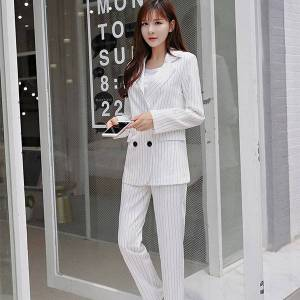 DHgate women's small spring new striped slim jacket female temperament wild suit trend ric7