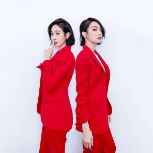 DHgate 2021 new girl red summer thin little two-piece suit spring and autumn wild ladies 33sz