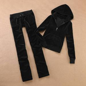 DHgate 2021 brand velvet women's fabric tracksuits velour women track suit hoodies and pants sap psly