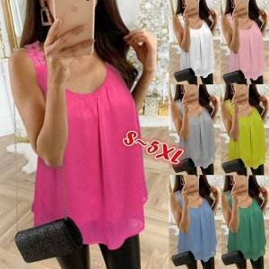 DHgate summer 2021 new women's solid lace suspender sleeveless t-shirt
