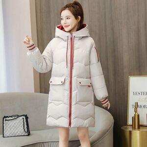 DHgate parkas long casualwinter jacket women femme veste mujer chaqueta kobieta solid color hooded kurtka zimowa damska plus size coat 6c63