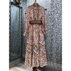 DHgate skirts designer clothing sets spring summer long skirt suit women wild leopard print shirts+belt long maxi skirt