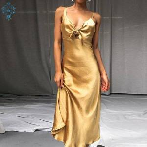 DHgate evening dresses ameision elegant a-line sleeveless spaghetti strap backless 2021 ladies formal party