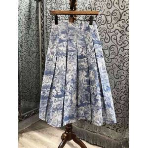 DHgate skirt skirts 2021 spring summer clothes women wild animal prints mid-calf length casual gown skirts vintage