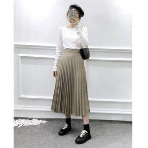 DHgate skirts summer women's plaid temperament small fragrance style wild high waist check pleated half-length skirt 2czx