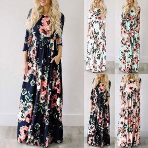 DHgate party dresses maxi summer floral print long boho beach tunic evening sundress vestidos largos mujer yuhp