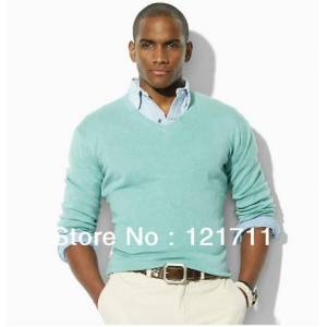 DHgate wholesale-mens sweater- men's v-neck sweater-long sleeves sweater  stlye sweater