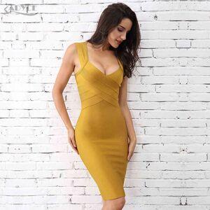 DHgate romper adyce summer women bandage dress sleeveless neck night out runway celebrity evening party club dresses vestidos