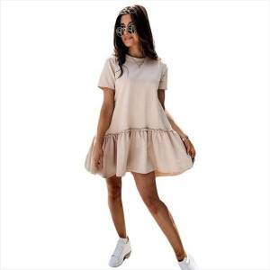 DHgate summer beach ruffle vestidos womens dresses de mujer casual midi pink a line mini elegant y2k robe femme sukienki