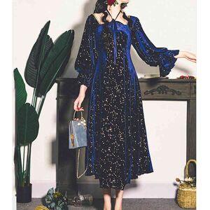 DHgate dresses vintage party women evening french elegant retro female casual long sleeve flroal midi dress korean autumn chic