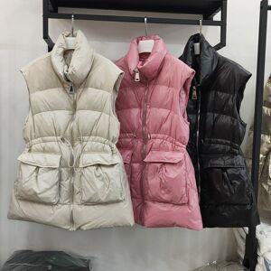DHgate autumn winter 2021 fashion korean vt, waist closing st collar, medium and long down et, women's ma jiachao