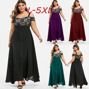 DHgate plus size cold shoulder floral womens dresses lace maxi party evening camis long dress l 5xl vestido robe vestidos sukienki
