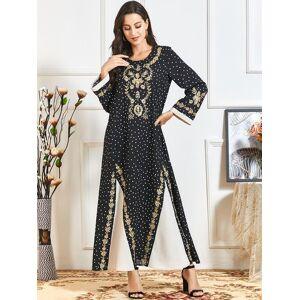 DHgate dubai abayas for women muslim dress loose islam clothing plus size evening maxi dresses kaftan robe caftan eid arabic vestidos