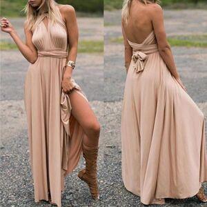 DHgate multipurpose v neck womens dress formal maxi party evening summer clothing elegant long dresses for women