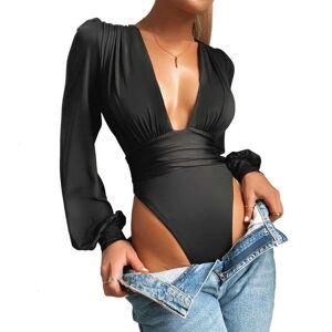 DHgate women's jumpsuits & rompers bodysuit women spring summer red black white  fashion bodycon bodysuits body femme b6sh