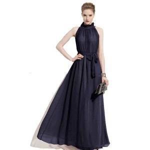 DHgate casual dresses plus size halter evening event maxi summer chiffon sleeveless wedding es for women
