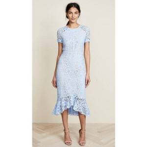 DHgate spring summer women es long 3d flower embroidery fish tail lace blue short sleeve party robe femme high end quality sukienki