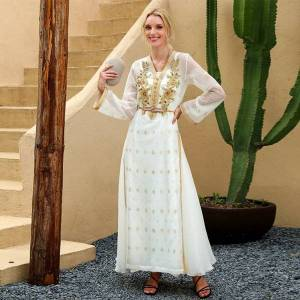 DHgate eid mubarak high-end handwork diamonds kaftan moroccan abaya dubai turkey arabic muslim dress women sukienki vestidos dresses